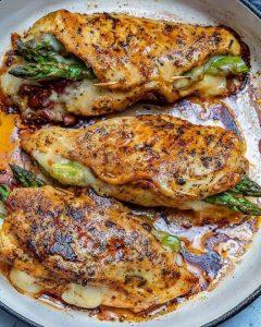 keto dieet recept gevulde kipfilet met asperge